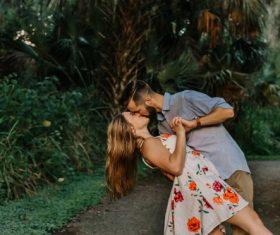 Stock Photo Couple kissing romantic