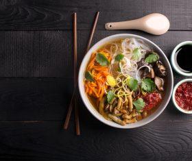 Stock Photo Delicious fan noodles