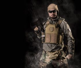 Stock Photo Fully armed special forces