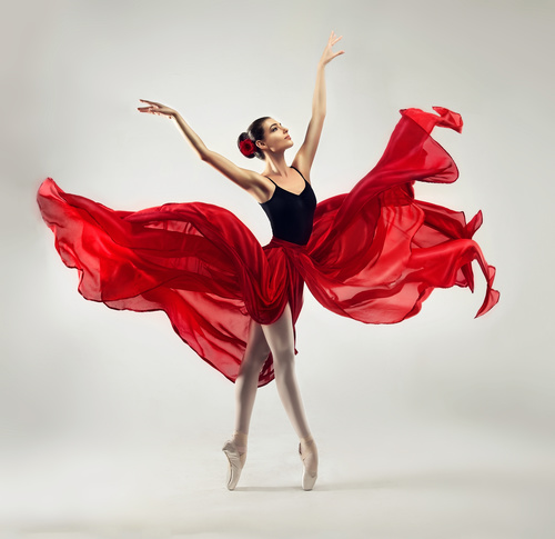 Stock Photo Girl dancing dance 02