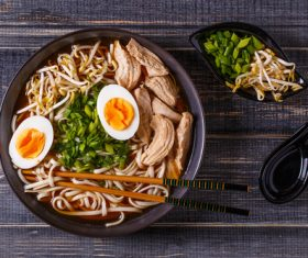 Stock Photo Good-tasting noodles 02