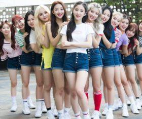Stock Photo Korean sweet beauty group member