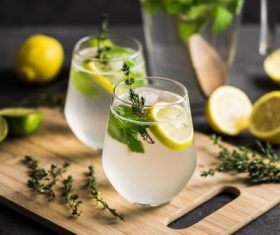 Stock Photo Lemon Mint Iced Tea