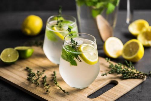 Stock Photo Lemon Mint Iced Tea