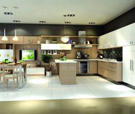 Stock Photo Modern kitchen decoration design 01