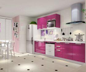 Stock Photo Modern kitchen decoration design 04