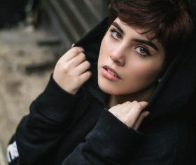 Stock Photo Refreshing and handsome short hair girl