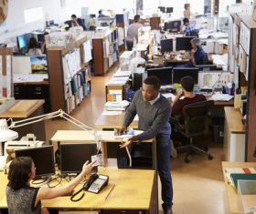 Stock Photo Staff busy working 02