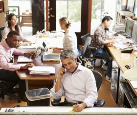 Stock Photo Staff busy working 03
