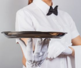 Stock Photo Waiter of restaurant 01