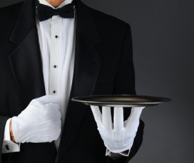 Stock Photo Waiter of restaurant 02