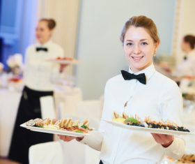 Stock Photo Waiter of restaurant 03
