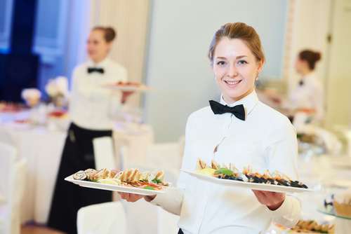 Stock Photo Waiter of restaurant 03