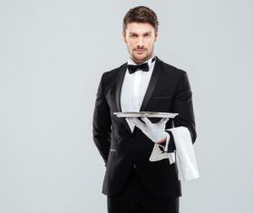 Stock Photo Waiter of restaurant 04