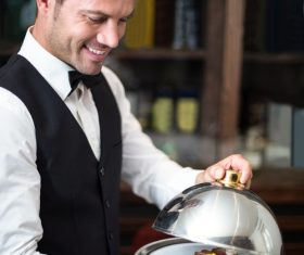 Stock Photo Waiter of restaurant 07