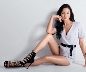 Studio Shot Fashion Woman Stock Photo