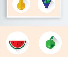 Summer cool fruit pattern vector