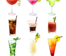 Summer drink illustration vector set 01