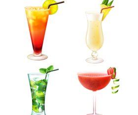 Summer drink illustration vector set 02
