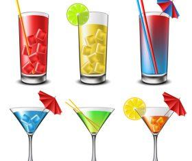 Summer drink illustration vector set 03