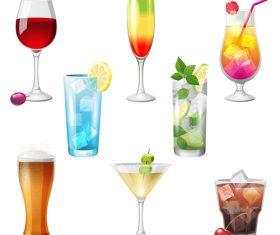 Summer drink illustration vector set 04
