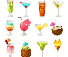 Summer drink illustration vector set 05