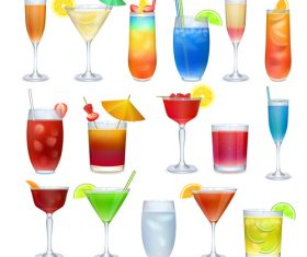 Summer drink illustration vector set 06