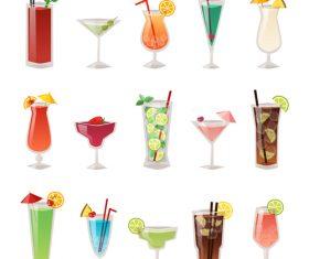 Summer drink illustration vector set 07