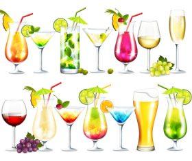 Summer drink illustration vector set 08