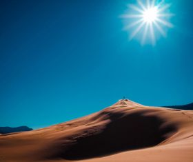 Sunny natural scenery in the desert Stock Photo 02