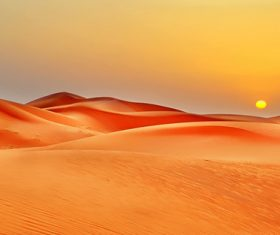 Sunny natural scenery in the desert Stock Photo 08