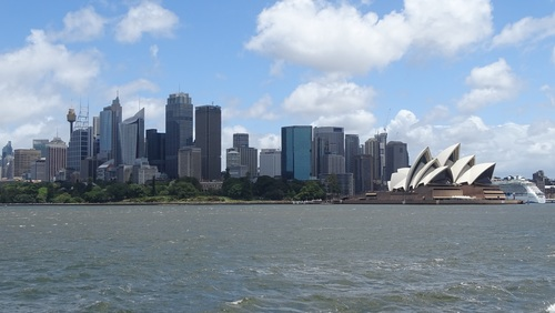 Sydney Opera House from different perspectives Stock Photo 01