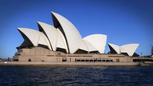 Sydney Opera House from different perspectives Stock Photo 02