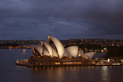 Sydney Opera House from different perspectives Stock Photo 07