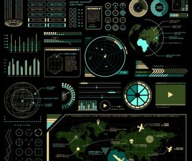 Tech style style vector charting material