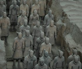 Terracotta Warriors of the First Qin Emperor of China Stock Photo 01