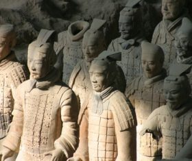 Terracotta Warriors of the First Qin Emperor of China Stock Photo 02