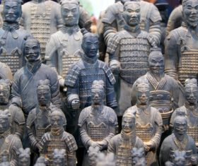 Terracotta Warriors of the First Qin Emperor of China Stock Photo 03