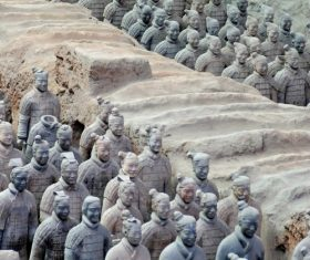 Terracotta Warriors of the First Qin Emperor of China Stock Photo 04