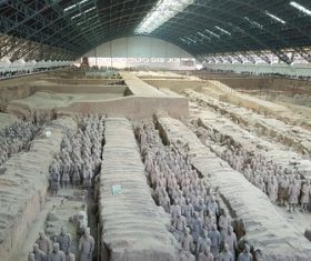 Terracotta Warriors of the First Qin Emperor of China Stock Photo 05
