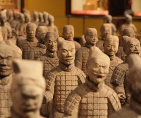 Terracotta Warriors of the First Qin Emperor of China Stock Photo 06