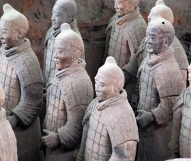 Terracotta Warriors of the First Qin Emperor of China Stock Photo 07
