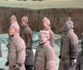 Terracotta Warriors of the First Qin Emperor of China Stock Photo 08