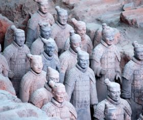 Terracotta Warriors of the First Qin Emperor of China Stock Photo 10