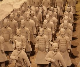 Terracotta Warriors of the First Qin Emperor of China Stock Photo 11