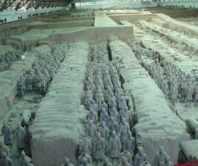 Terracotta Warriors of the First Qin Emperor of China Stock Photo 12