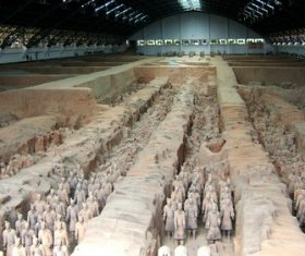 Terracotta Warriors of the First Qin Emperor of China Stock Photo 13