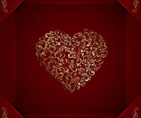 Textured Valentines Day element vector material 02