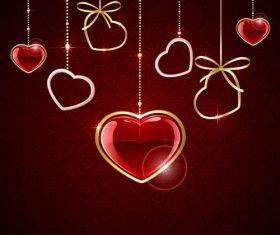 Textured Valentines Day element vector material 03