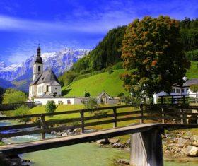 The most beautiful village of Ramsau Germany Stock Photo 01